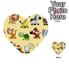Group Of Animals Graphic Multi-purpose Cards (Heart)
