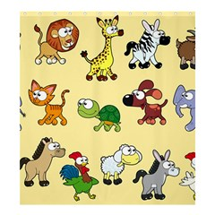 Group Of Animals Graphic Shower Curtain 66  X 72  (large)