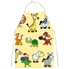 Group Of Animals Graphic Full Print Aprons