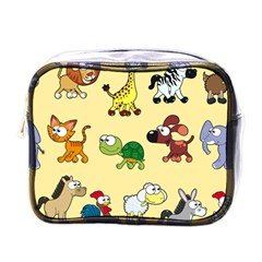 Group Of Animals Graphic Mini Toiletries Bags