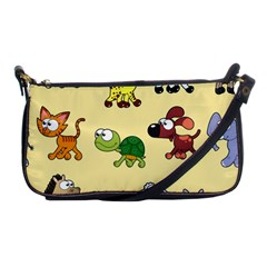 Group Of Animals Graphic Shoulder Clutch Bags