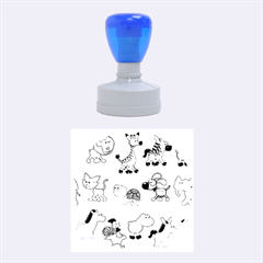 Group Of Animals Graphic Rubber Round Stamps (medium)