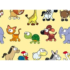 Group Of Animals Graphic Birthday Cake 3D Greeting Card (7x5)