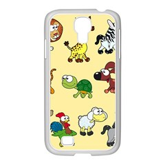 Group Of Animals Graphic Samsung Galaxy S4 I9500/ I9505 Case (white)