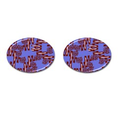 Ikat Sticks Cufflinks (oval)