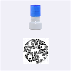 Ikat Sticks Rubber Round Stamps (small)