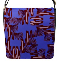 Ikat Sticks Flap Messenger Bag (s)