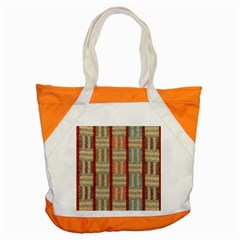 Fabric Pattern Accent Tote Bag