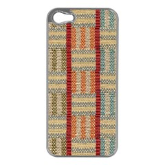 Fabric Pattern Apple Iphone 5 Case (silver)