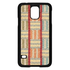 Fabric Pattern Samsung Galaxy S5 Case (black)