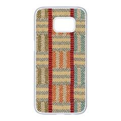 Fabric Pattern Samsung Galaxy S7 Edge White Seamless Case