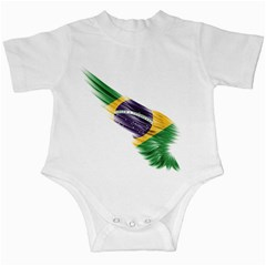 Flag Of Brazil Infant Creepers