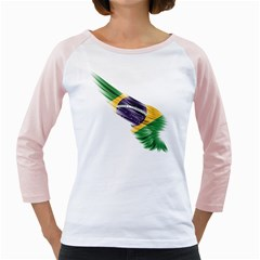 Flag Of Brazil Girly Raglans