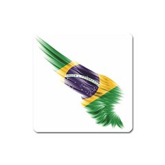 Flag Of Brazil Square Magnet