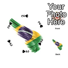 Flag Of Brazil Playing Cards 54 (round)