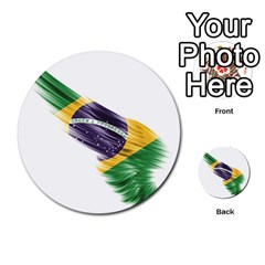 Flag Of Brazil Multi Purpose Cards (round)
