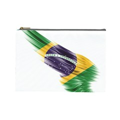 Flag Of Brazil Cosmetic Bag (large)