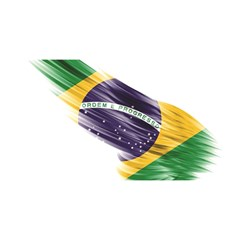 Flag Of Brazil You Are Invited 3d Greeting Card (8x4)