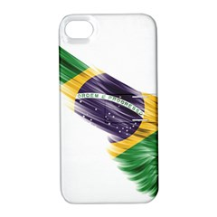 Flag Of Brazil Apple Iphone 4/4s Hardshell Case With Stand