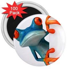 Tree Frog Illustration 3  Magnets (100 Pack)