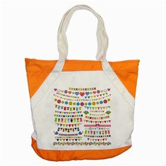 Owl Pattern Accent Tote Bag