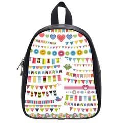 Owl Pattern School Bags (small)