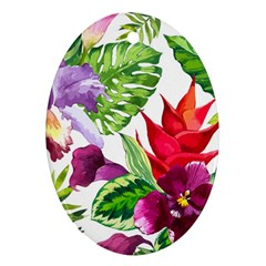 Vector Pattern Tropical Ornament (oval)