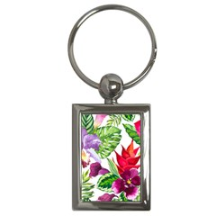 Vector Pattern Tropical Key Chains (rectangle)