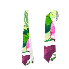 Vector Pattern Tropical Neckties (one Side)