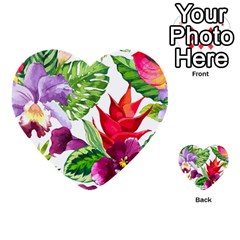 Vector Pattern Tropical Multi-purpose Cards (Heart)