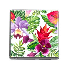 Vector Pattern Tropical Memory Card Reader (square)