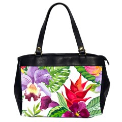 Vector Pattern Tropical Office Handbags (2 Sides)