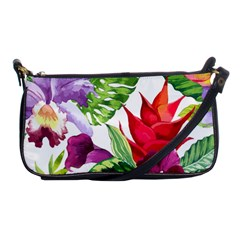 Vector Pattern Tropical Shoulder Clutch Bags