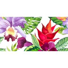 Vector Pattern Tropical You Are Invited 3d Greeting Card (8x4)
