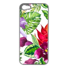 Vector Pattern Tropical Apple Iphone 5 Case (silver)