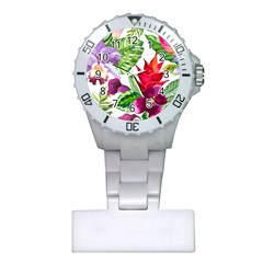 Vector Pattern Tropical Plastic Nurses Watch