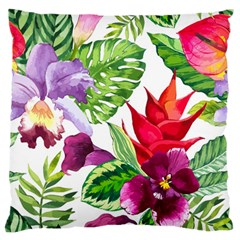 Vector Pattern Tropical Large Flano Cushion Case (two Sides)