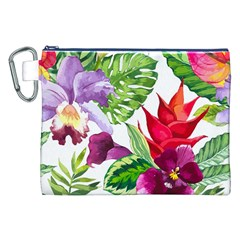 Vector Pattern Tropical Canvas Cosmetic Bag (xxl)