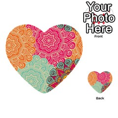 Art Abstract Pattern Multi Purpose Cards (heart)