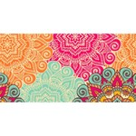 Art Abstract Pattern PARTY 3D Greeting Card (8x4) Back