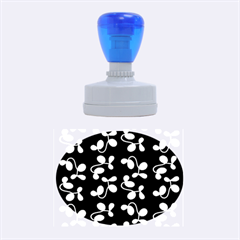 Purple Garden Rubber Oval Stamps