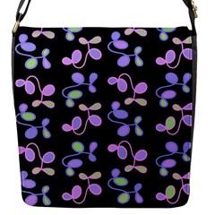 Purple Garden Flap Messenger Bag (s)