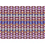 Ethnic Colorful Pattern Get Well 3D Greeting Card (7x5) Back