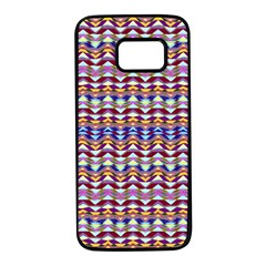 Ethnic Colorful Pattern Samsung Galaxy S7 Black Seamless Case