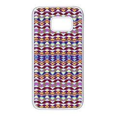 Ethnic Colorful Pattern Samsung Galaxy S7 White Seamless Case