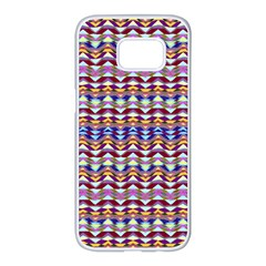 Ethnic Colorful Pattern Samsung Galaxy S7 edge White Seamless Case