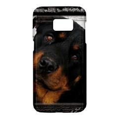 Rottweiler Framed Samsung Galaxy S7 Hardshell Case