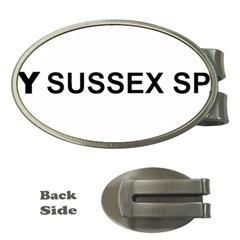 I Love My Sussex Spaniel Money Clips (Oval)