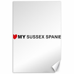 I Love My Sussex Spaniel Canvas 24  x 36