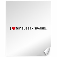 I Love My Sussex Spaniel Canvas 11  x 14